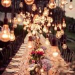 düğün süslemeleri vintage eski edison ampul süsleme