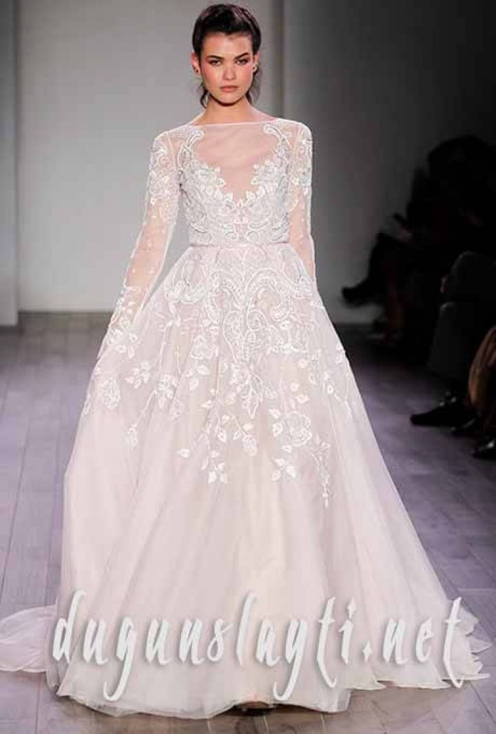 a301fb7156658 2016 uzun kollu gelinlik modelleri - 2018'in en iyi düğün ...