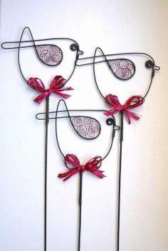 düğün süslemeleri-aliminyum tel ile yapabileceğiniz küçük süslemeler