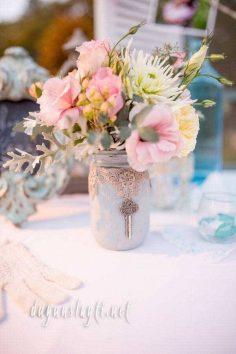 düğün süslemeleri kavanoz ile yapılabilecek süslemeler