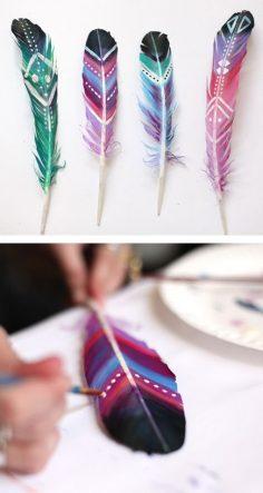 düğün süslemeleri tüy boyama