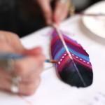 düğün süslemeleri tüy boyama teknikleri